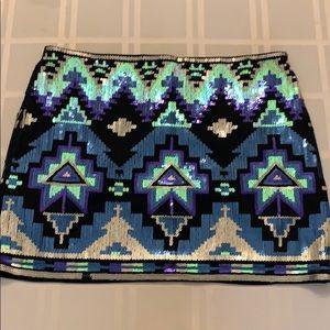 Express Sequin Mini-Skirt